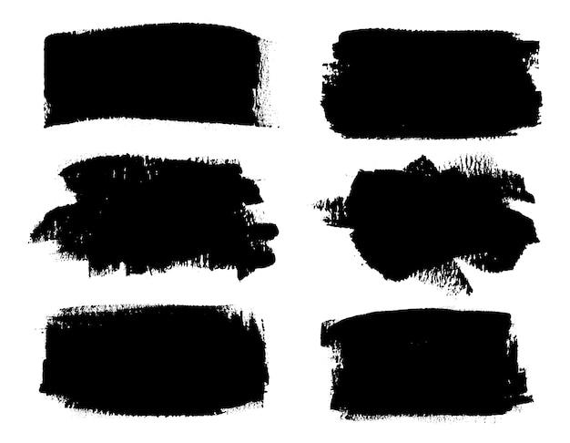 Banners de pincelada preta