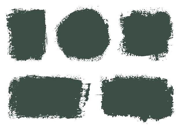 Banners de pintura abstrata de grunge Vetor Premium
