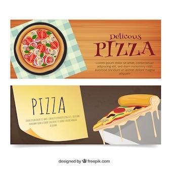 Banners de pizza deliciosa
