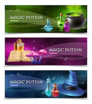 Banners de poção mágica