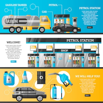 Banners de posto de gasolina