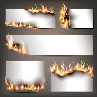 Banners de propaganda estratégica de fogo quente definidos para atrair clientes para vendas sazonais de descontos