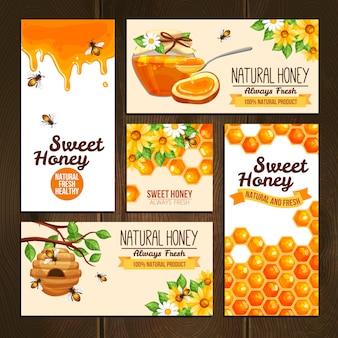 Banners de publicidade de mel
