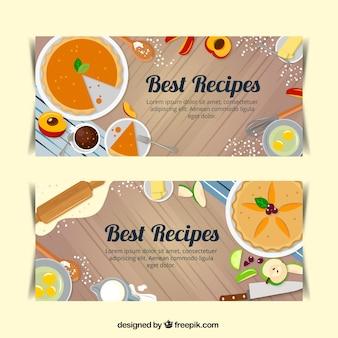 Banners de receitas deliciosas