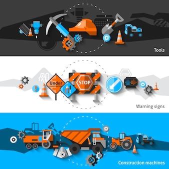 Banners de reparação de estradas