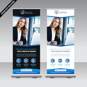 Banners de rollup de negócios para marketing