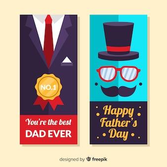 Banners de rótulo do dia dos pais
