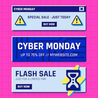 Banners de segunda-feira cibernética