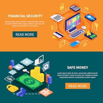 Banners de segurança financeira