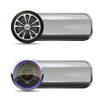 Banners de serviço de pneu