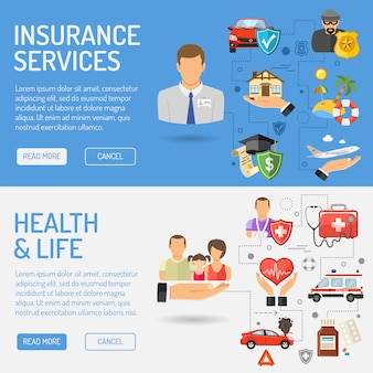 Banners de serviços de seguros