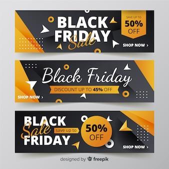 Banners de sexta-feira negra gradiente
