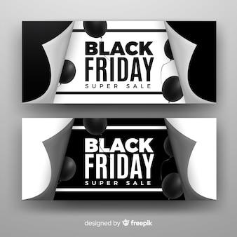 Banners de sexta-feira negra