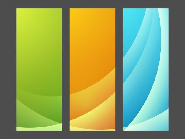 Banners de sites com design abstrato.