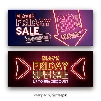 Banners de super venda sexta-feira negra