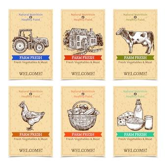 Banners de tags de fazenda
