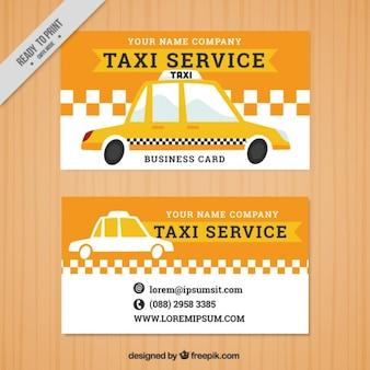 Banners de táxi no estilo do vintage