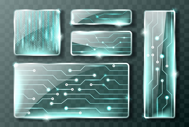 Banners de tecnologia de vidro