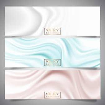 Banners de textura de seda
