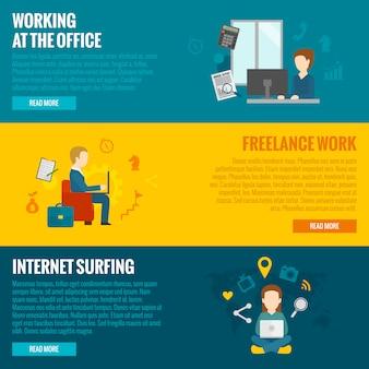 Banners de trabalho de computador