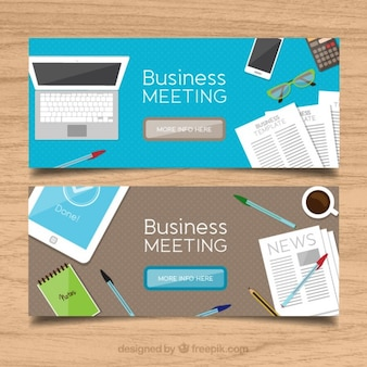 Banners de trabalho de negócios