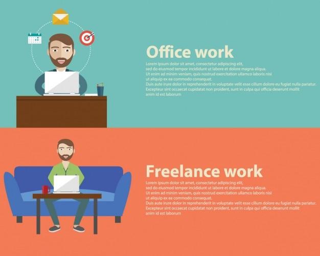 Banners de trabalho definido