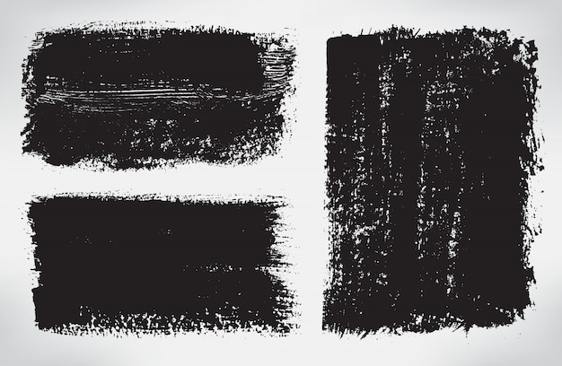 Banners de traçado de pincel preto