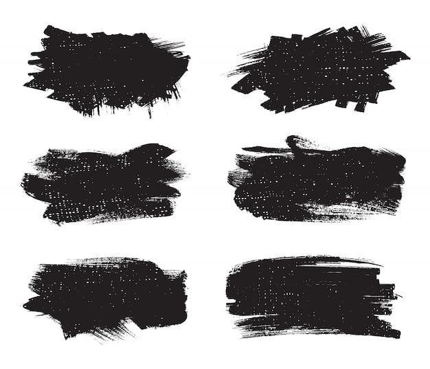 Banners de traço de tinta abstrata Vetor Premium