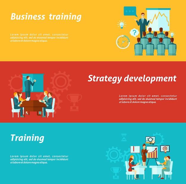 Banners de treinamento de negócios