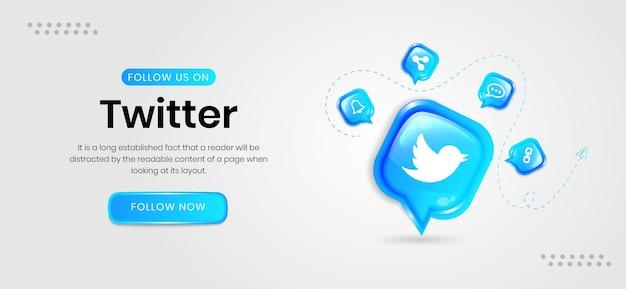 Banners de twitter em redes sociais