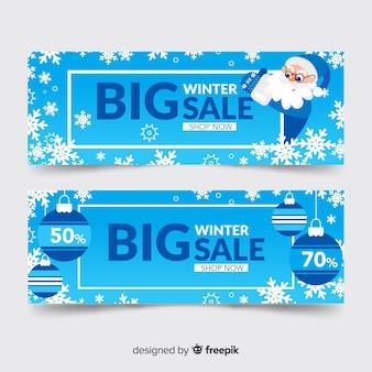 Banners de venda apartamento inverno