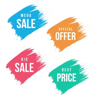 Banners de venda aquarela modernos