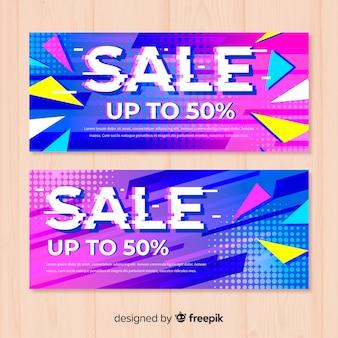 Banners de venda de falha