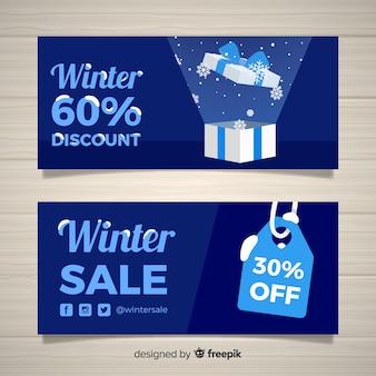 Banners de venda de inverno