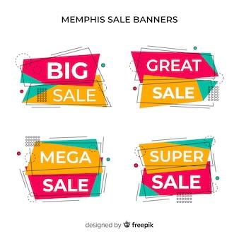 Banners de venda de memphis
