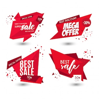 Banners de venda de oferta moderna