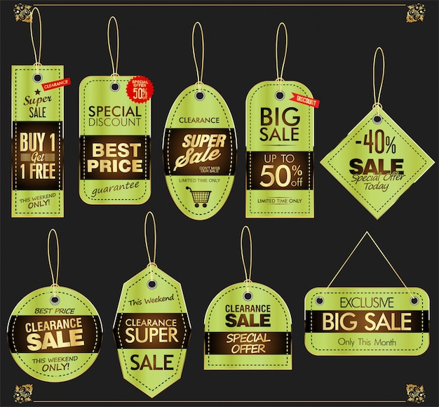 Banners de venda de ouro