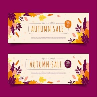 Banners de venda de outono