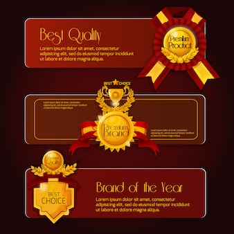 Banners de venda de prêmio