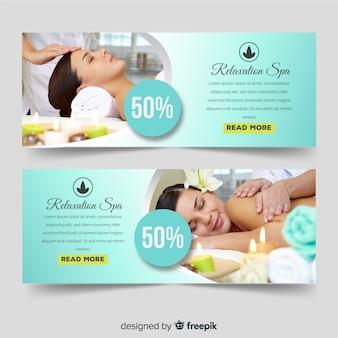 Banners de venda de spa