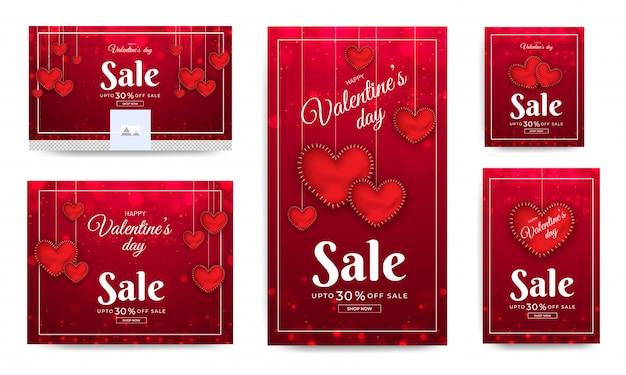 Banners de venda do dia dos namorados.