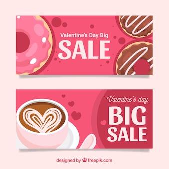 Banners de venda do dia dos namorados