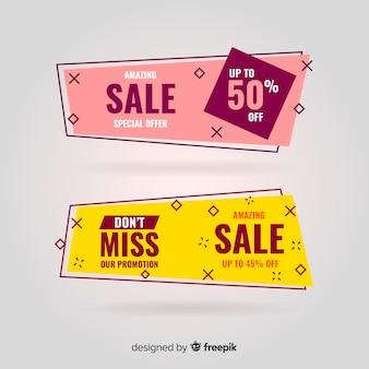 Banners de venda geométrica