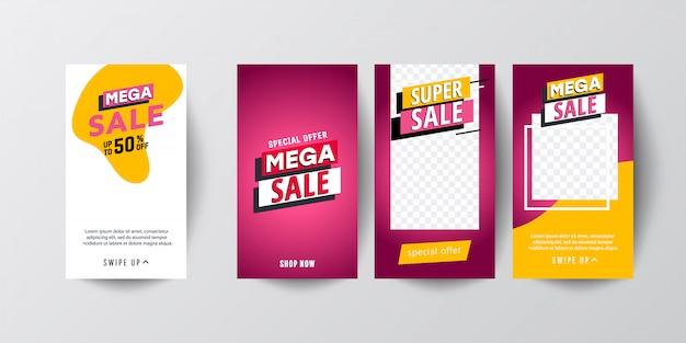 Banners de venda móvel.