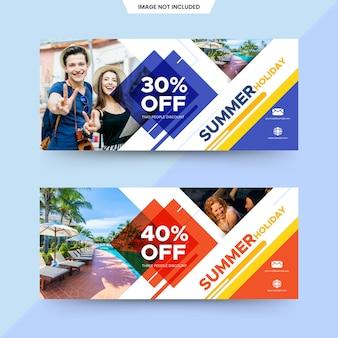 Banners de venda quadrada de verão