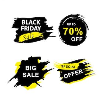 Banners de venda sexta-feira negra cravejado de grunge