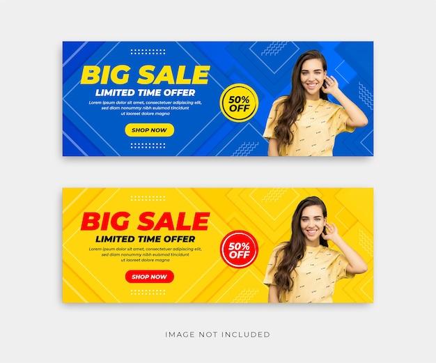 Banners de vendas criativos com vetor premium de detalhes abstratos