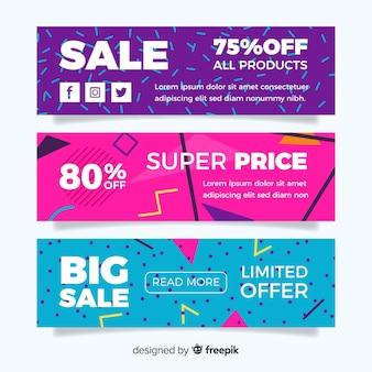 Banners de vendas de memphis