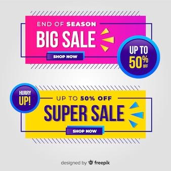 Banners de vendas goemetric