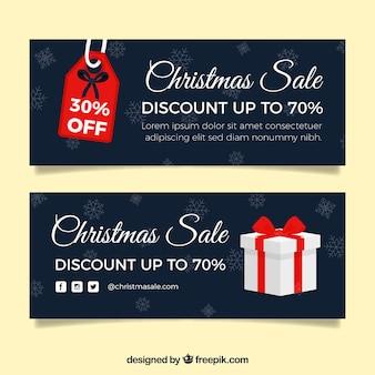 Banners de vendas no natal